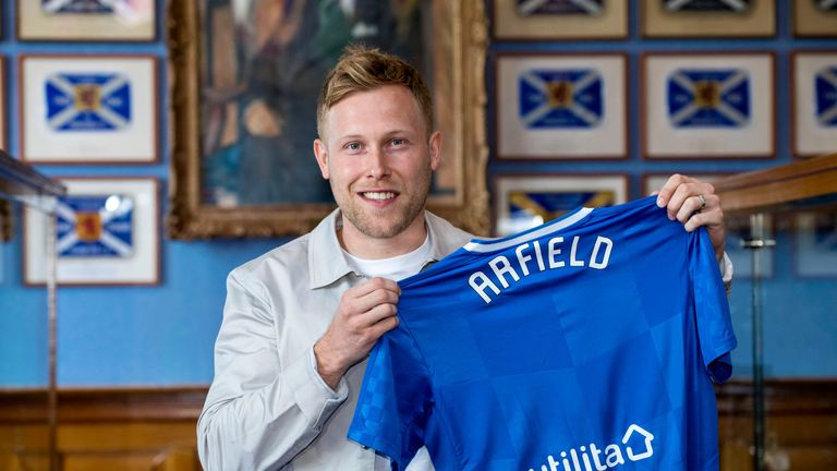 Scott Arfield was announced as a Rangers player last month.