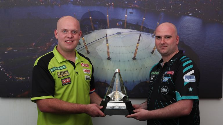 Michael Van Gerwen and Rob Cross are battling it out for top spot in this year's Premier League