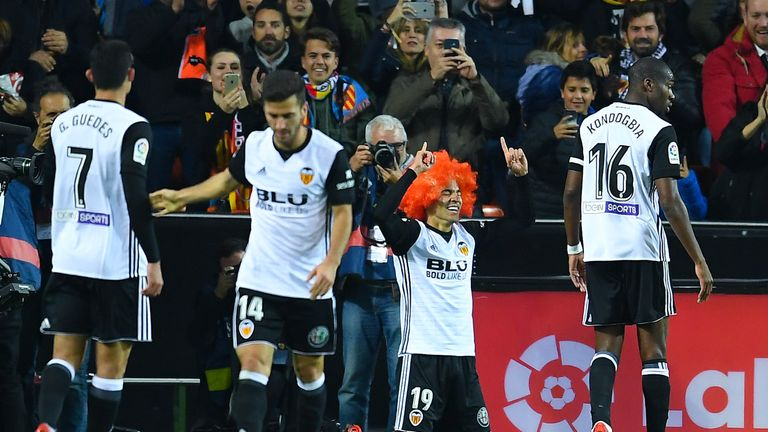 Rodrigo further endeared himself to Valencia supporters when, after scoring against Barcelona, he donned an orange wig in tribute to former club president Jaume Orti