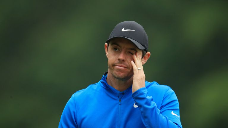 McIlroy sits two strokes off the pace