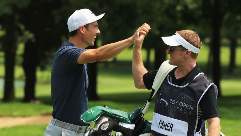 Ross Fisher finished with an eagle from 104 yards