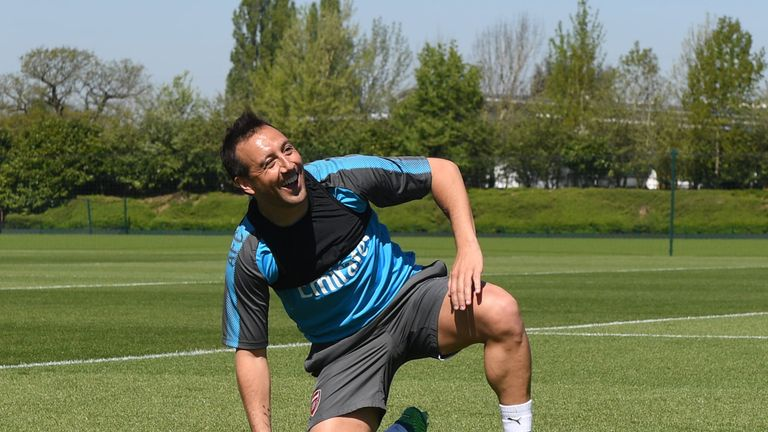 Santi Cazorla is training again but will not be risked this season