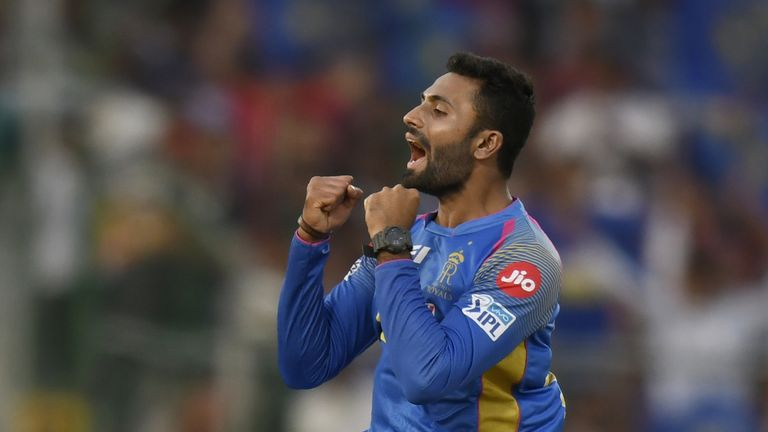 Shreyas Gopal has bossed Virat Kohli and AB de Villiers this season (Credit: AFP)