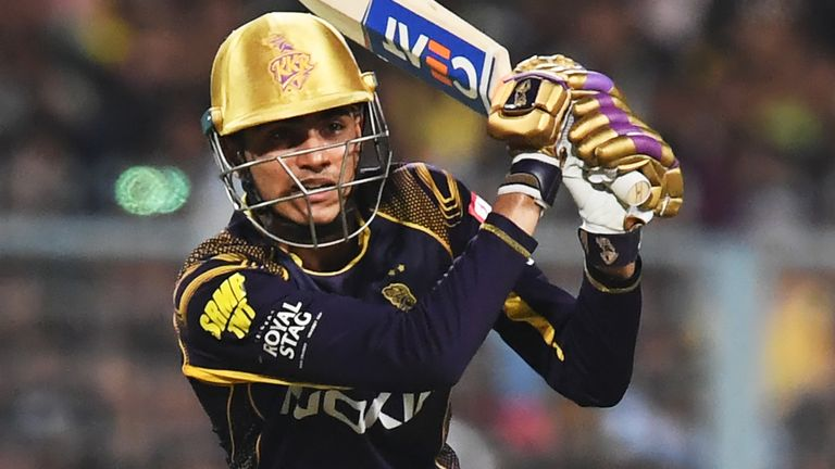 Gill in action for Kolkata Knight Riders in the IPL (Credit: AFP)