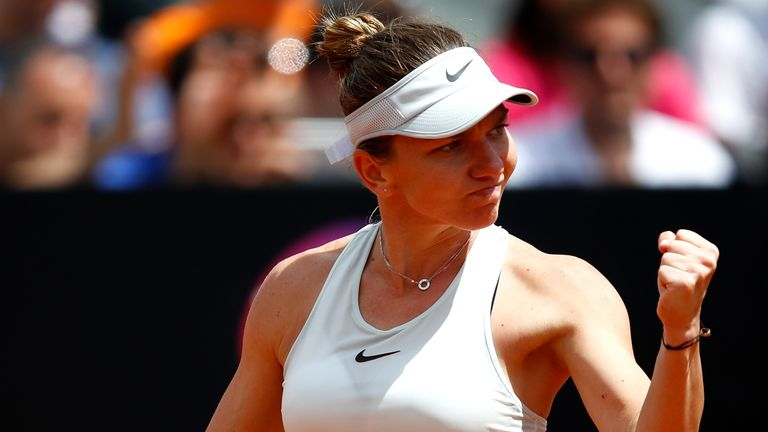Halep claimed her fourth win over Osaka in five meetings