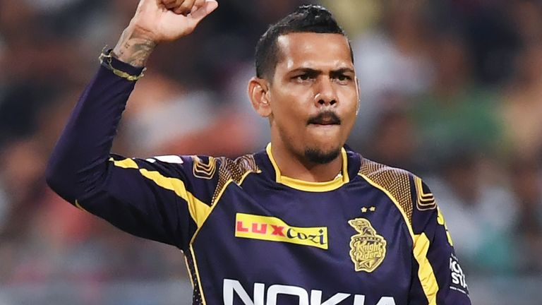 Narine's clever bowling at the death clinched a narrow win for KKR (Credit: AFP)