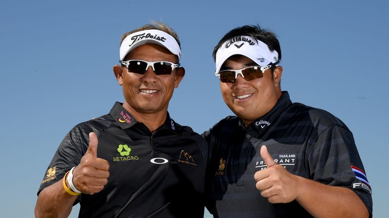 Thongchai Jaidee and Kiradech Aphibarnrat of Thailand made a flying start at the GolfSixes