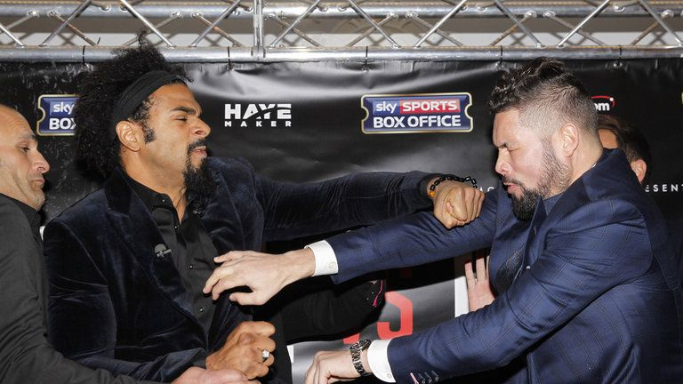 Haye and Bellew first brawled in November 2016