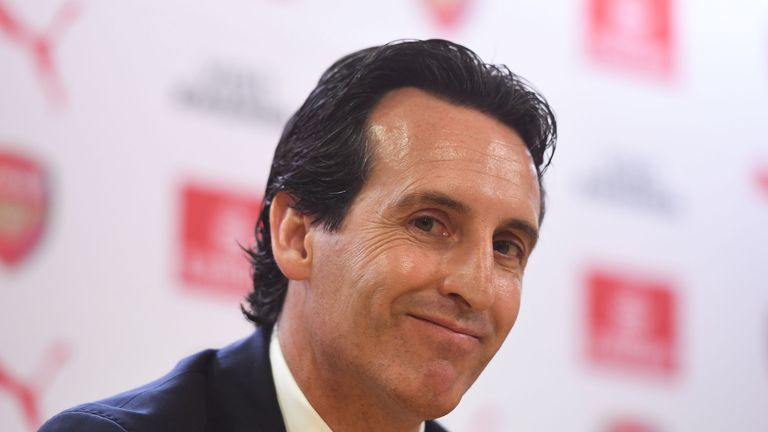 Emery attended his first press conference as head coach of Arsenal