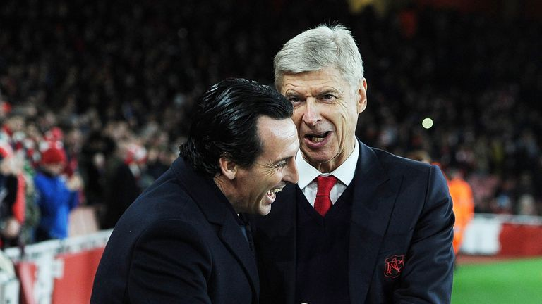 Emery takes over from Arsene Wenger at the Emirates