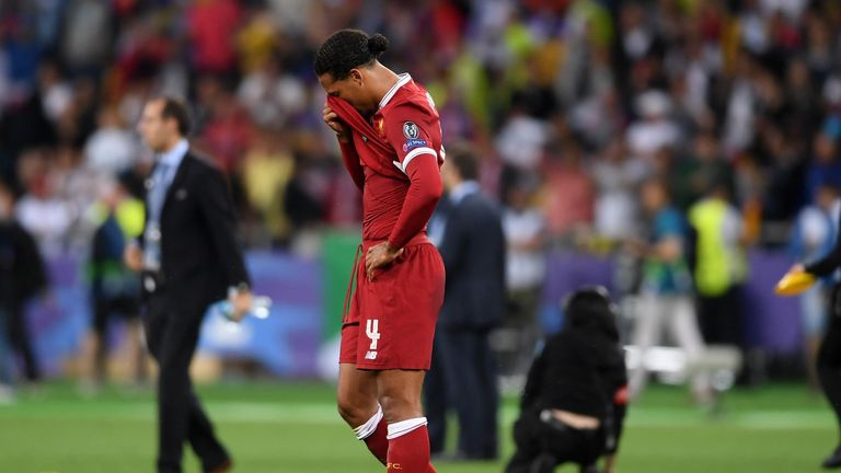 Van Dijk suffered defeat in the Champions League final to Real Madrid