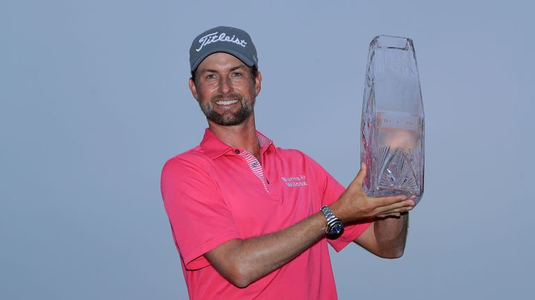 Webb Simpson cruised to a four-shot win at Sawgrass