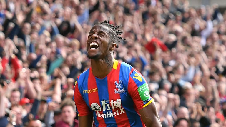 Borussia Dortmund are interested in Wilfried Zaha