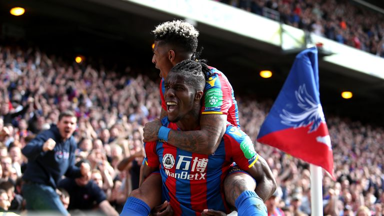 Wilfried Zaha has scored three goals so far this season
