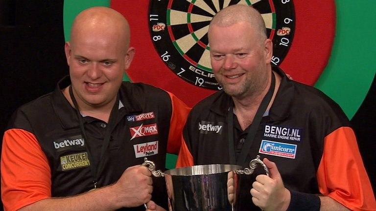 Van Barneveld won the World Cup of Darts for the Netherlands on four occasions, with Van Gerwen partnering him three times