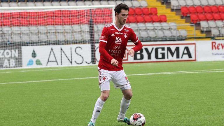 Zach Birse in action for new club IFK Ostersund