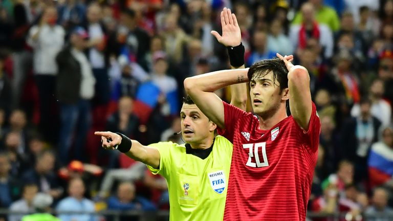 Iran's equaliser was disallowed after consultation with VAR