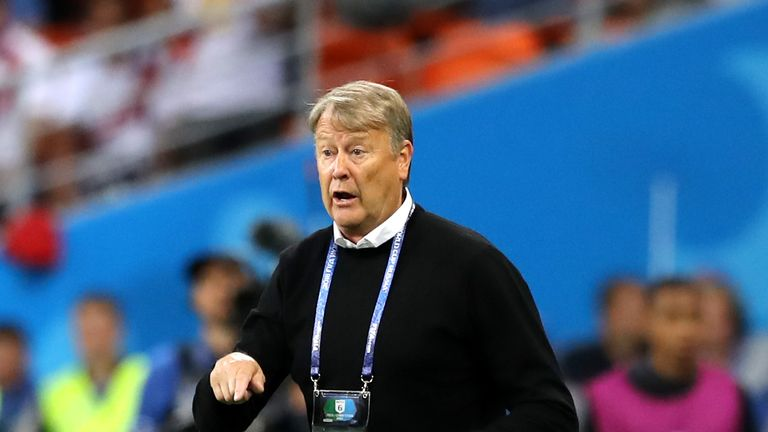 Age Hareide has been stood down from his role as Denmark boss
