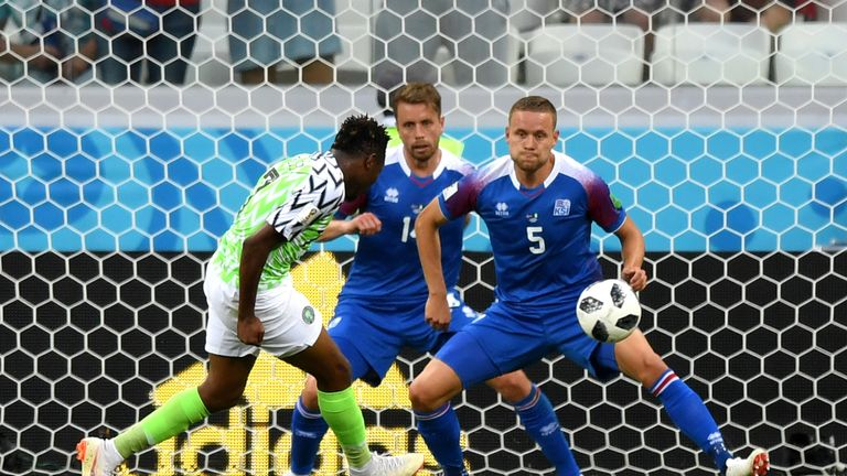 Ahmed Musa scores his and Nigeria's second