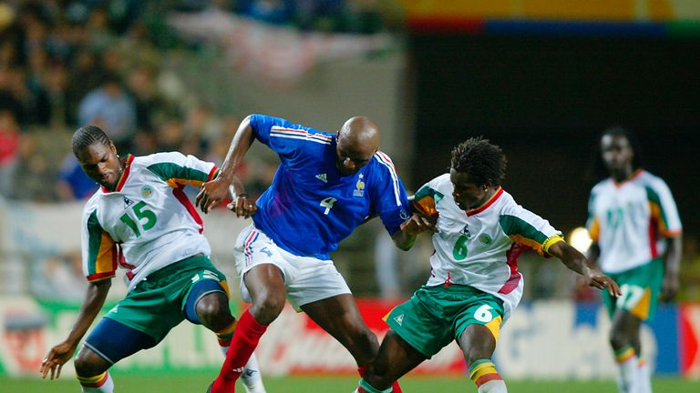 France were overpowered by Senegal in 2002