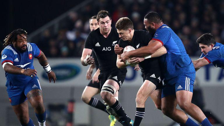 Beauden Barrett in action