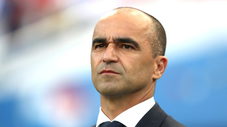 Martinez led Belgium to third place at the World Cup in Russia
