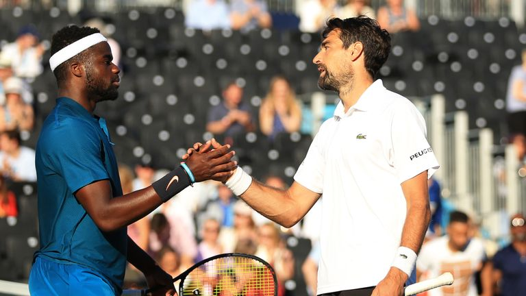 Jeremy Chardy secured victory in his first meeting against Frances Tiafoe
