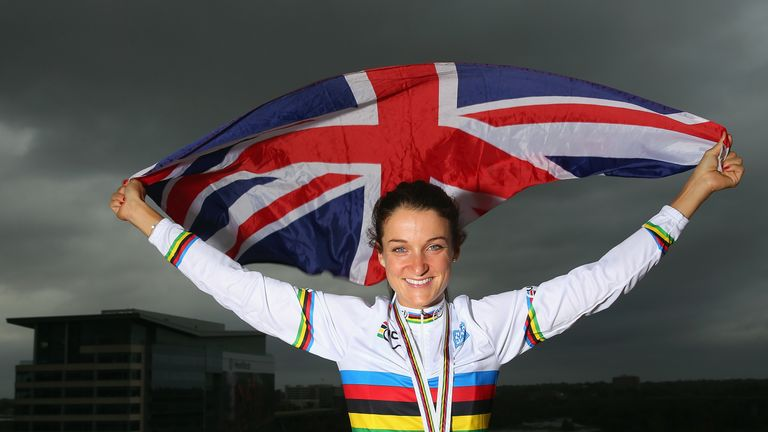 Lizzie Armitstead was crowned women's road race world champion in 2015