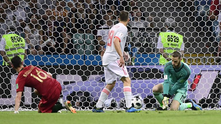 De Gea's howler allowed Cristiano Ronaldo to score during Spain's draw with Portugal