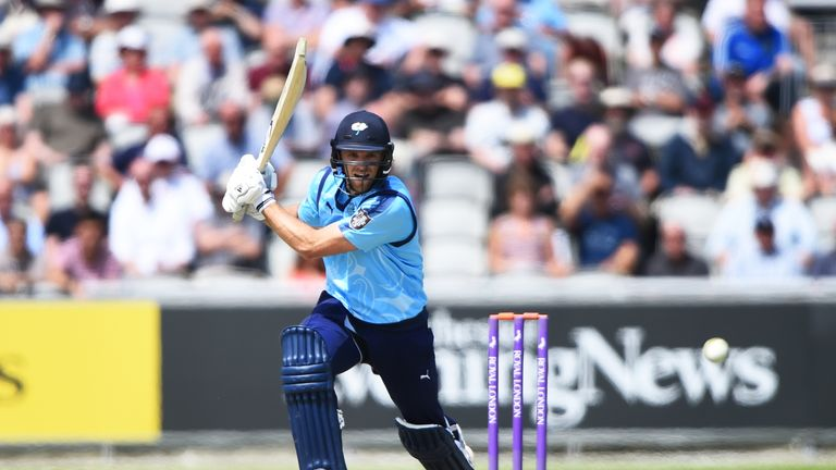 Willey smashed a hundred for Yorkshire in the Roses One-Day Cup clash against Lancashire earlier this month