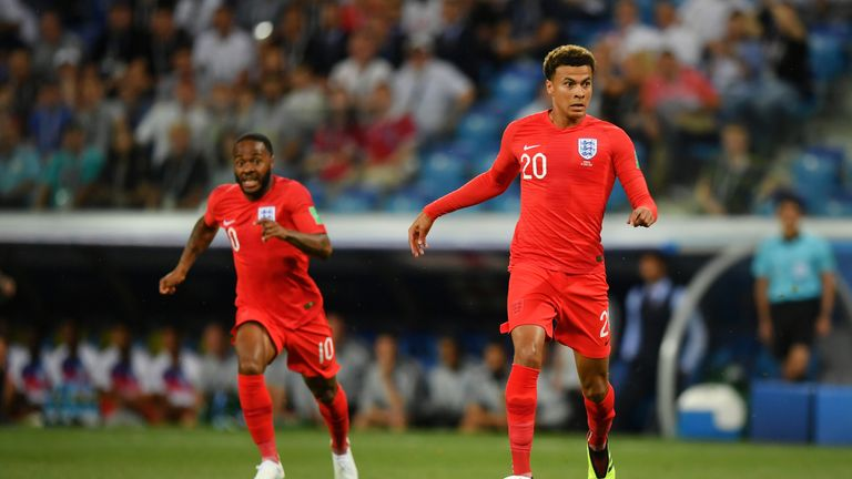 Gareth Southgate was pleased with Dele Alli's performance against Colombia