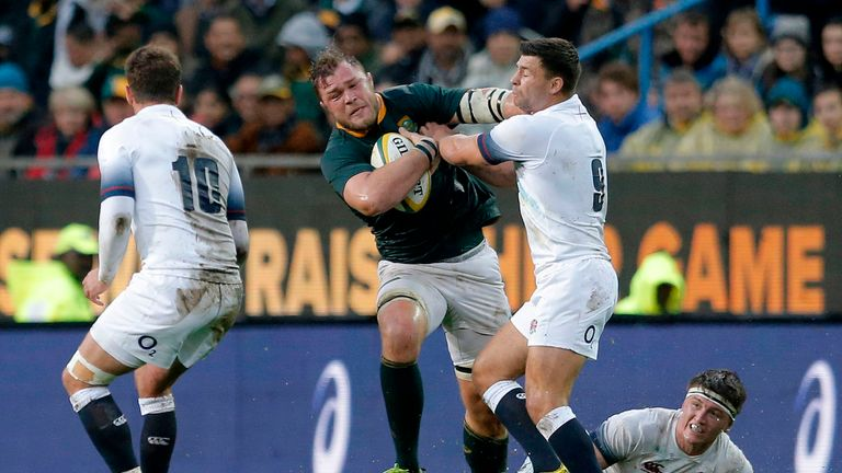 Duane Vermeulen in action against Ben Youngs