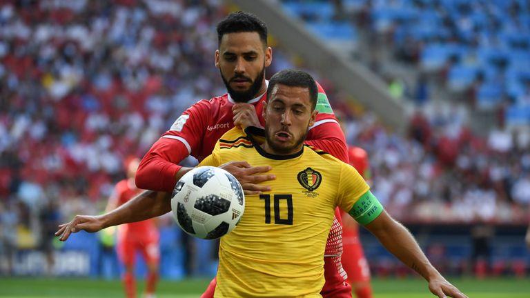 Belgium's Eden Hazard was too hot for Tunisia to handle
