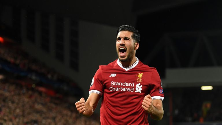 Can scored 10 goals for Liverpool during his time at the club from 2014-2018