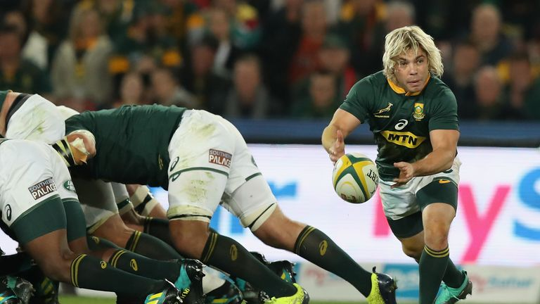 The absence of Sale scrum-half Faf de Klerk will be a huge blow to the Springboks