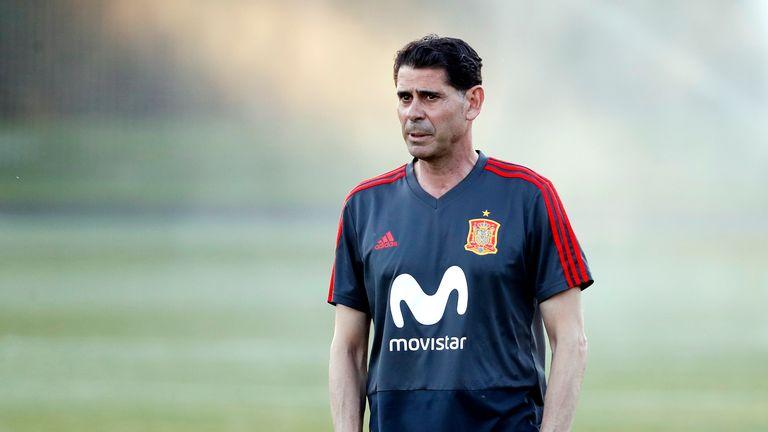 Fernando Hierro has been thrown in at the deep end as Spain coach