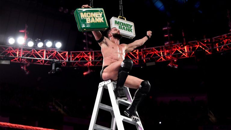 Finn Balor seeks the briefcase which will return him to the WWE title picture