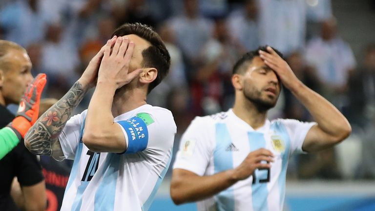 The two-time World Cup winners are bottom of Group D