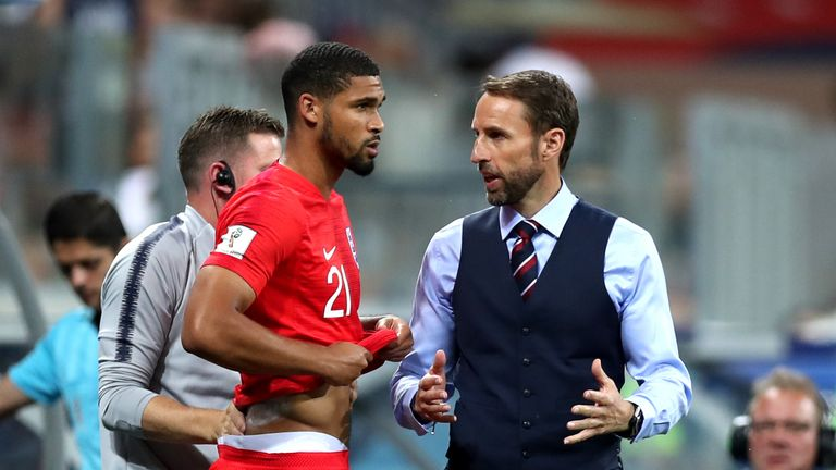 Ruben Loftus-Cheek (left) featured for England at the World Cup