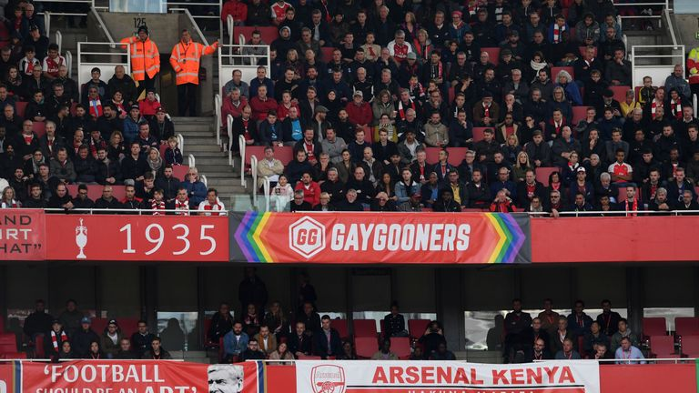 The Gay Gooners were founded back in 2012 and their banner is now a familiar sight at the Emirates