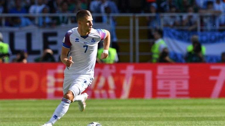 Johann Berg Gudmundsson suffered the injury in Iceland's World Cup opening draw against Argentina