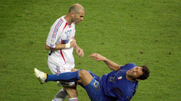 Zinedine Zidane headbutted Marco Materazzi in the final