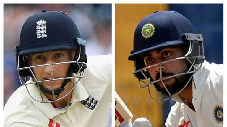 England Test captain Joe Root and India's opposite number Virat Kohli