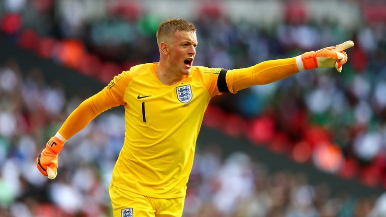Jordan Pickford started for England against Nigeria