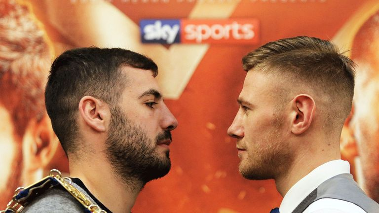 Paul Hyland Jnr (right) faces Lewis Ritson on Saturday, live on Sky Sports
