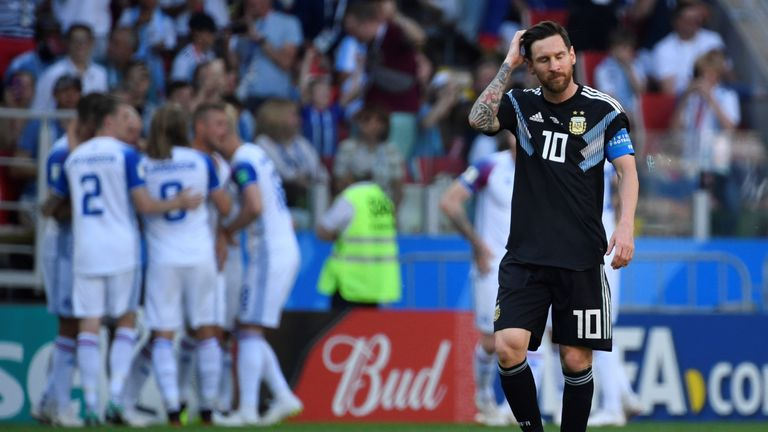 Messi struggled to find space as Iceland gave him close attention