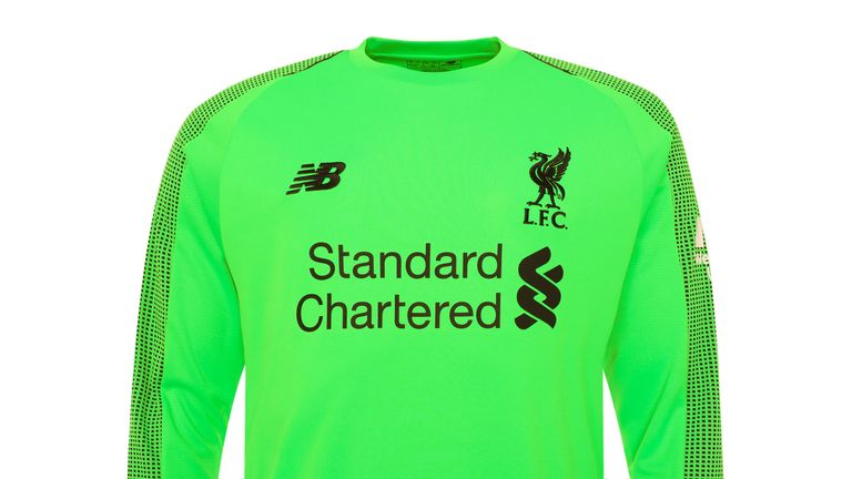Liverpool's new away goalkeeping jersey