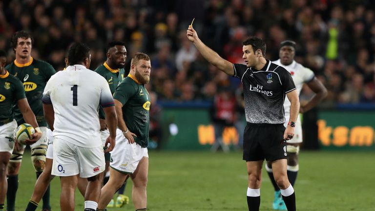 Vunipola was sin-binned in the second half for a late charge on Faf de Klerk