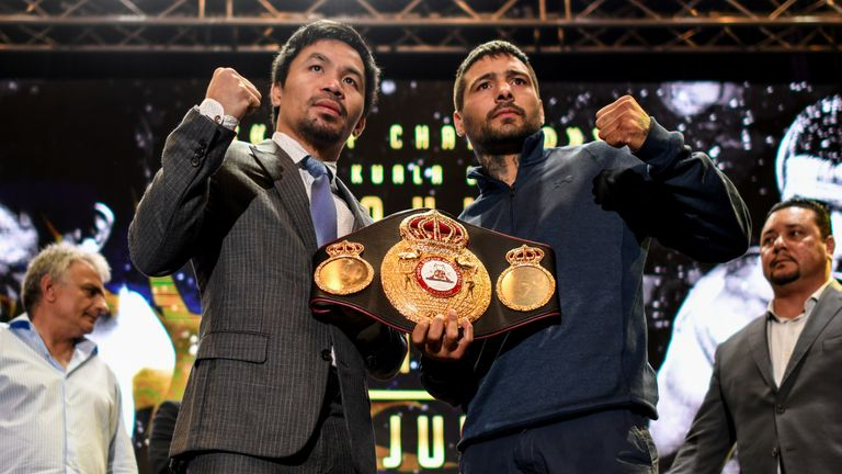 Pacquiao will challenge for Matthysse's WBA belt in Kuala Lumpur on July 15