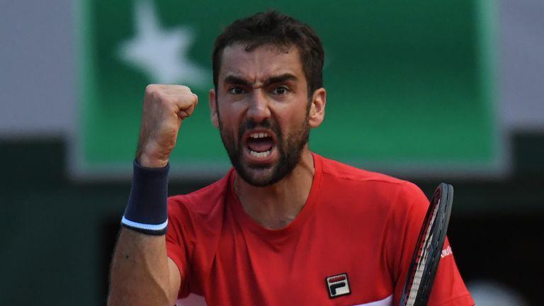 Marin Cilic will take on Juan Martin del Potro in the quarter-finals of the French Open
